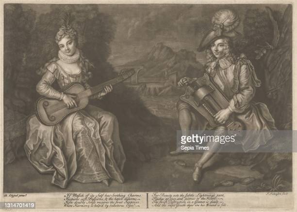 Music Has Charms, Print made by James Johnson, 1803–1834, British, after Charles Coypel, 1694–1752, French, undated, Mezzotint on moderately thick,...