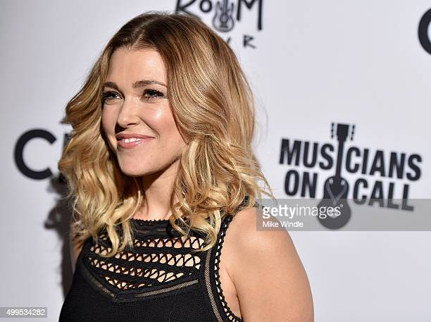 Music Heals Honoree Rachel Platten attends Musicians On Call Rock The Room Tour at Greystone Manor on December 1 2015 in West Hollywood California...