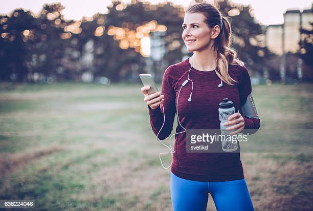 Music helps me feel the energy of workout