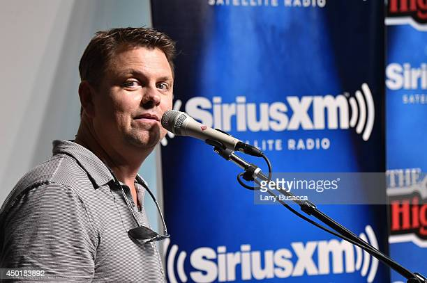Music host Storme Warren introduces Ryan Kinder at SiriusXM's Music City Theatre In Nashville As Part Of The Highway Super Fan Concert Series On...