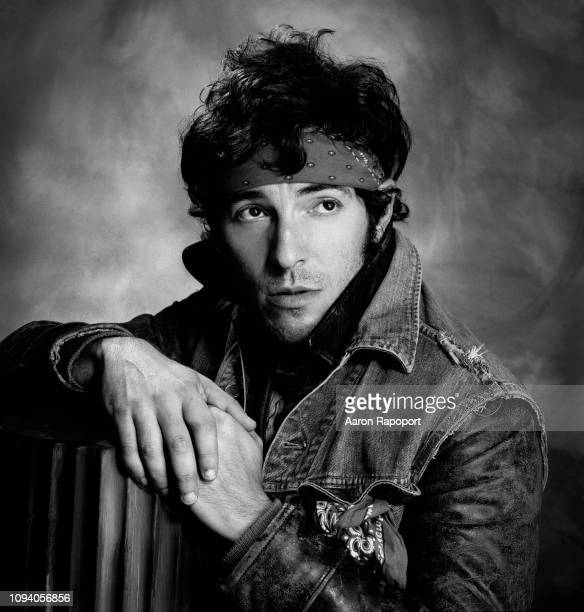 Circa 1988: Music icon Bruce Springsteen poses for a portrait session