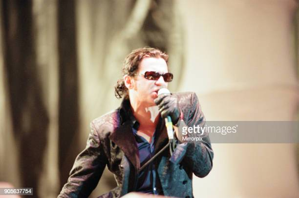 Music in the Bay 1997 Atlantic Wharf Cardiff Wales Saturday 14th June 1997 INXS Michael Hutchence Lead Singer