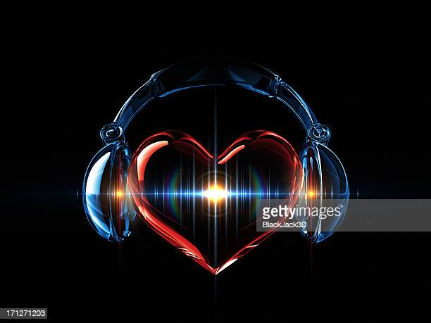 music in the heart - human heart stock pictures, royalty-free photos & images