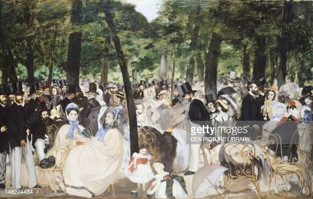 Music in the Tuileries by Edouard Manet London National Gallery
