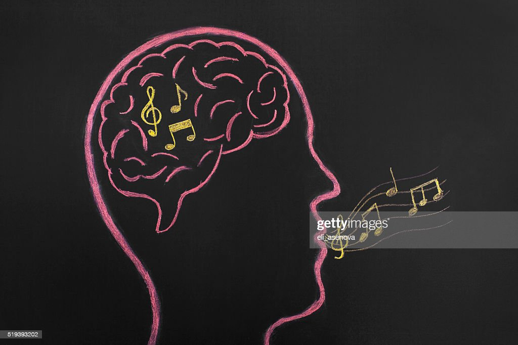 Music in your head : Stock Photo