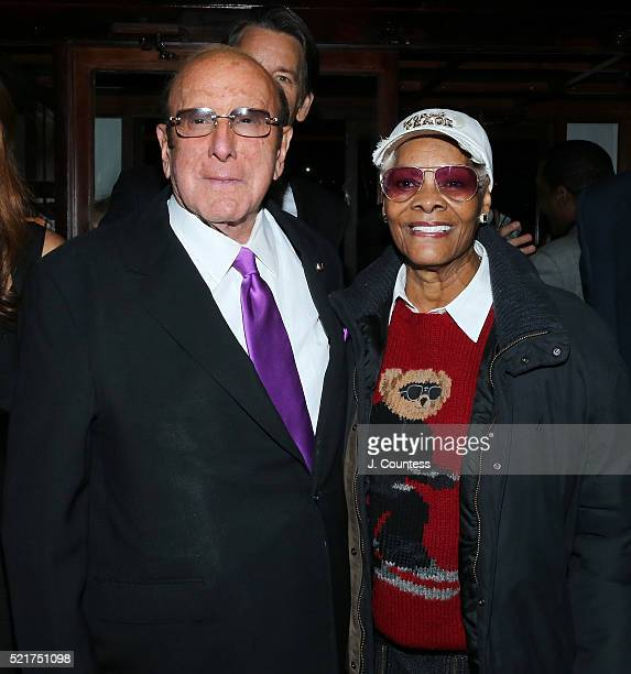 Music Industry Executive Clive Davis and singer Dionne Warwick attend the Ultimate Arista Reunion Gala at The Cutting Room on April 16 2016 in New...