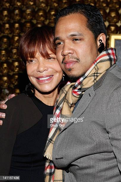 Music industry executive Sylvia Rhone and photographer Johnny Nunez attend Sylvia Rhone's surprise birthday party at Goldbar on March 11 2012 in New...