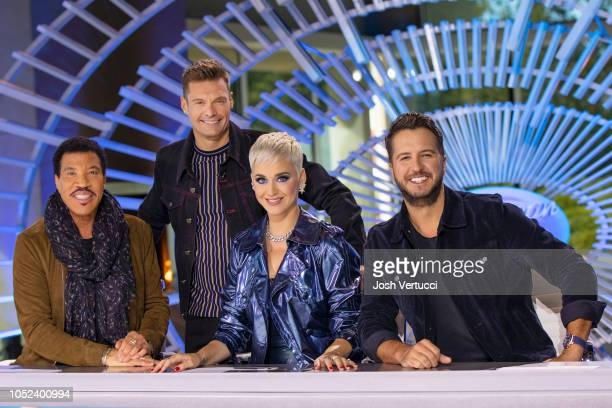 IDOL Music industry legends and allstar judges Luke Bryan Katy Perry and Lionel Richie along with Emmy winning producer and host Ryan Seacrest were...
