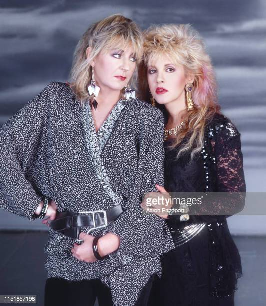 Music legends Christine McVie and Stevie Nicks pose for a portrait in Los Angeles, California.