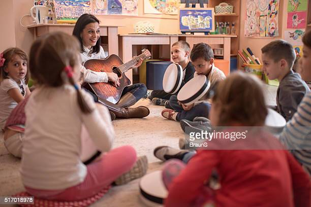 Music lesson in a kindergarten!