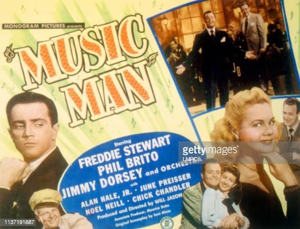 Music Man, lobbycard, Freddie Stewart, Alan Hale Jr, Phil Brito, Noel Neill, June Preisser, Chick Chandler, 1948.