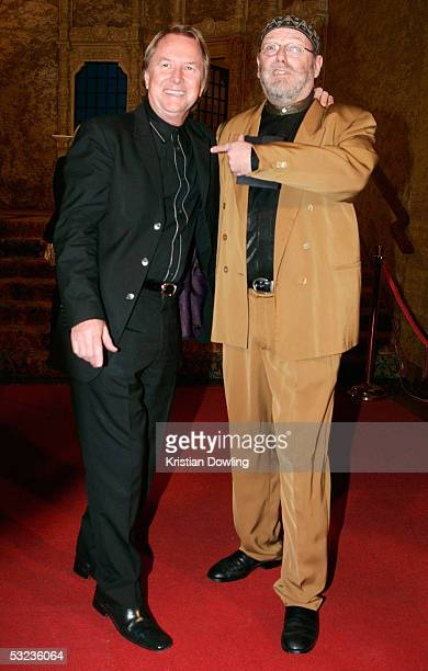 Music manager Glen Wheatley and writer Glenn A Baker arrive at the ARIA Icons Hall of Fame at the Regent Theatre July 14 2005 in Melbourne Australia...