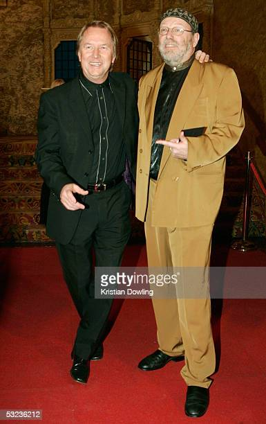 Music manager Glen Wheatley and writer Glenn A Baker arrives at the ARIA Icons Hall of Fame at the Regent Theatre July 14 2005 in Melbourne Australia...
