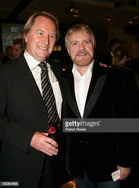 Music manager Glenn Wheatley and rock singer Billy Thorpe attend the Big Night Out Cocktail Party at the Establishment on June 14 2005 in Sydney...