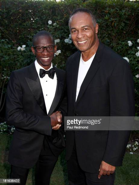 Music manager Troy Carter and singer/songwriter Ray Parker Jr. Attend the 24th Annual Heroes And Legends Awards at Beverly Hills Hotel on September...