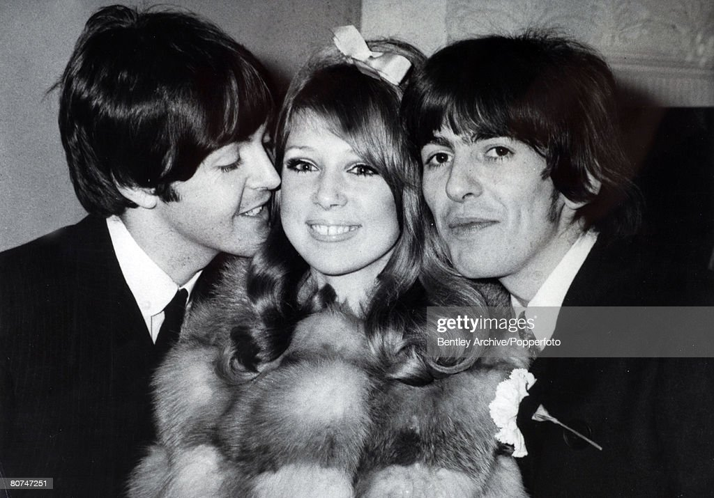 21st January 1966 Epsom Surrey Beatle George Harrison Right And Model Patti