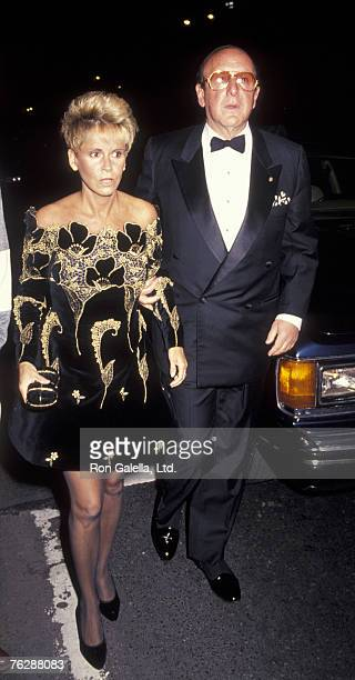 """Music mogul Clive Davis and date attending """"Haimoff-Grubman Wedding Reception"""" on October 12, 1991 at the New York Public Library in New York City,..."""