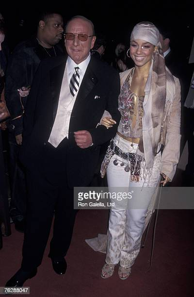 Music Mogul Clive Davis and singer Alicia Keys attending 'Arista Records PreGrammy Party' on February 26 2002 at the Beverly Hills Hotel Beverly Hills