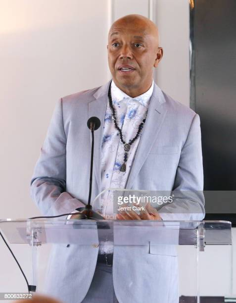Music Mogul Russell Simmons receives the Icon Award at the Culture Creators 2nd Annual Awards Brunch Presented By Motions Hair And Ciroc at Mr C...