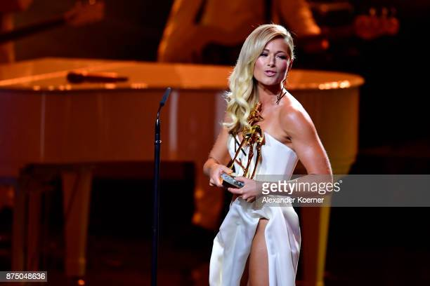 'Music National' award winner Helene Fischer on stage during the Bambi Awards 2017 show at Stage Theater on November 16 2017 in Berlin Germany