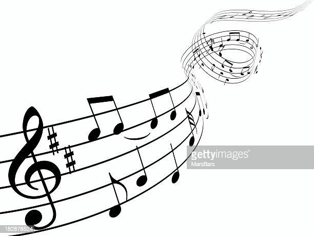 3d music notes - musical note stock photos and pictures