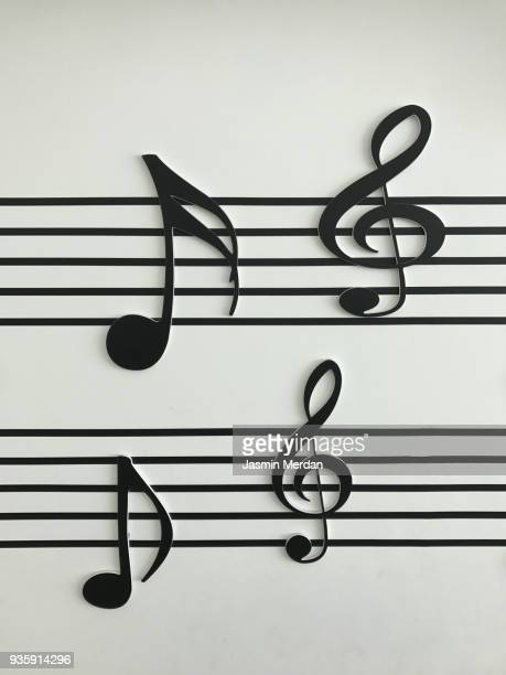 music notes - musical note stock photos and pictures