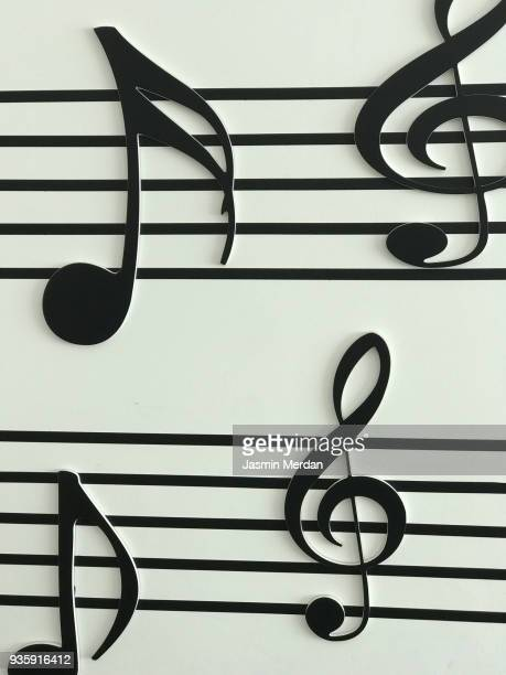 music notes - note de musique photos et images de collection