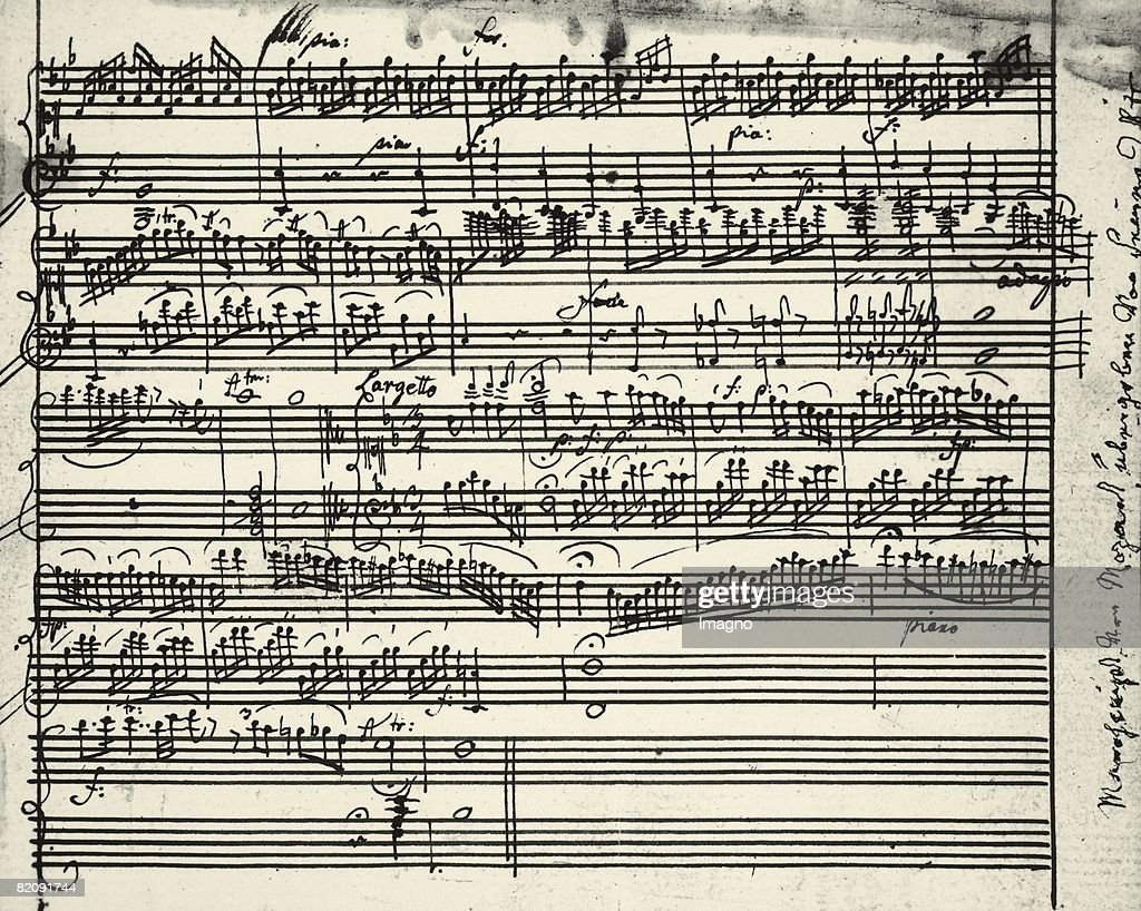 Music notes written by Austrian composer Wolfgang Amadeus ...Wolfgang Amadeus Mozart Music List