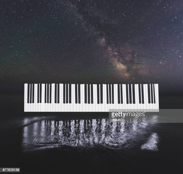 music of the stars - keyboard instrument stock photos and pictures