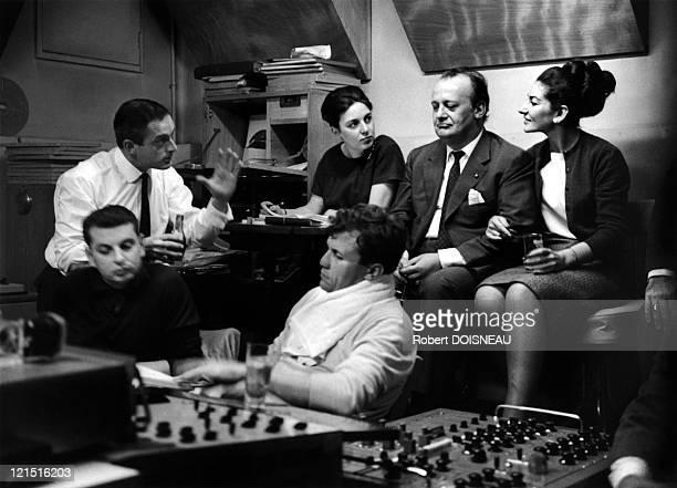 Music Orchestra Leader Georges Pretre On The Front Behind Him Maria Callas Carlo Bergonzi Tito Gobbi Leonardo Monreale And Giorgio Taddeo