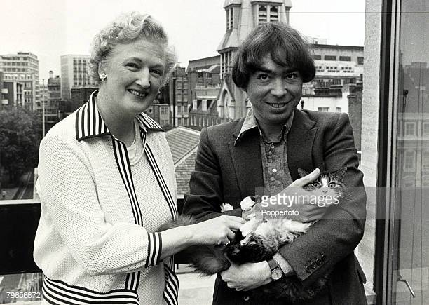 16th September 1980 Musical composer Andrew LloydWebber pictured with TSEliot's widow Valerie and cat