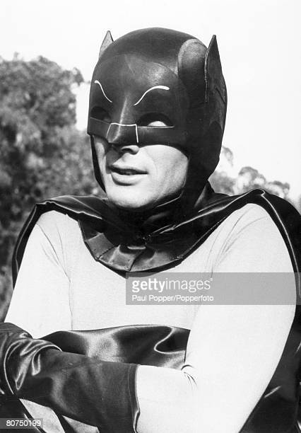1960's American actor Adam West born 1928 famous for his role as 'Batman' the popular TV series in the 1960's