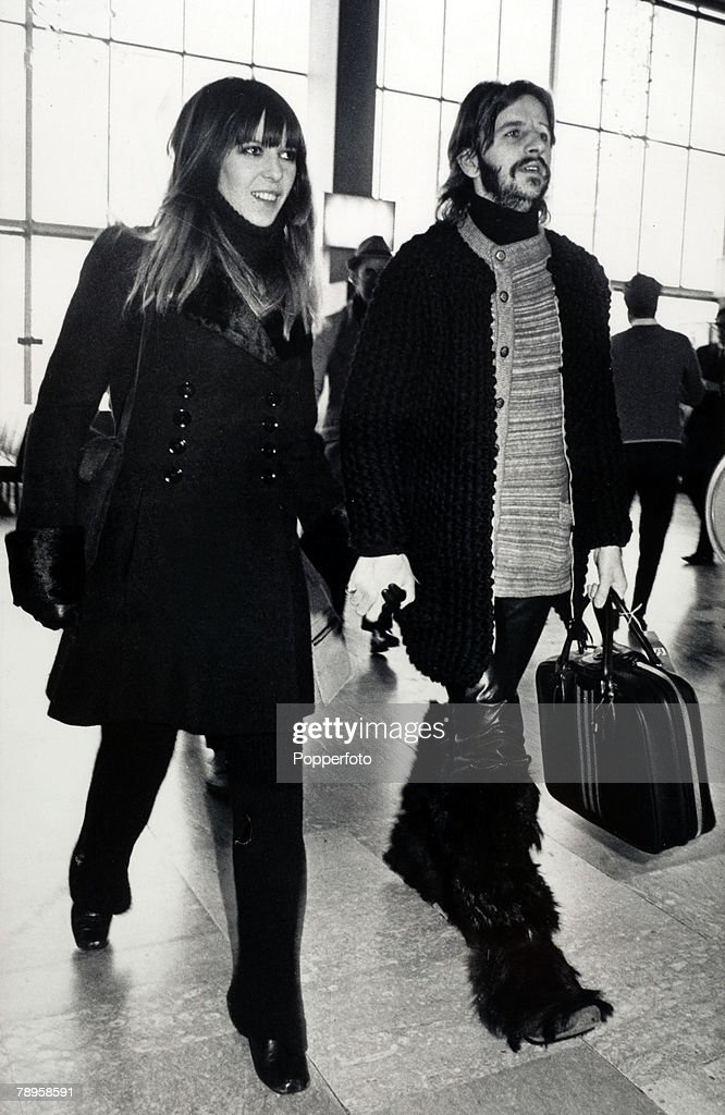 25th February 1971 The Beatles Drummer Ringo Starr Dressed In Long Fur Boots And