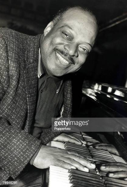 2nd April 1967 American bandleader and pianist Count Basie pictured at the piano at London's Royal Festival Hall