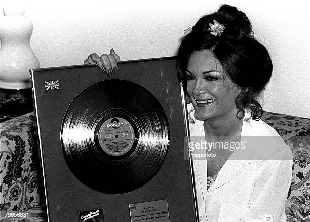 2nd May 1978 American singer Connie Francis pictured in London after receiving a Gold Disc for her album '20 All Time Greats'