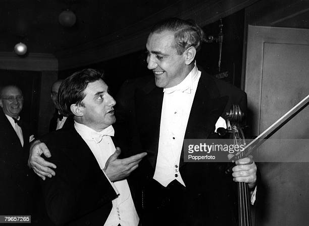 Music Personalities, pic: 6th September 1948, John Barbirolli, celebrated English conductor pictured after a concert at the Usher Hall, Edinburgh...
