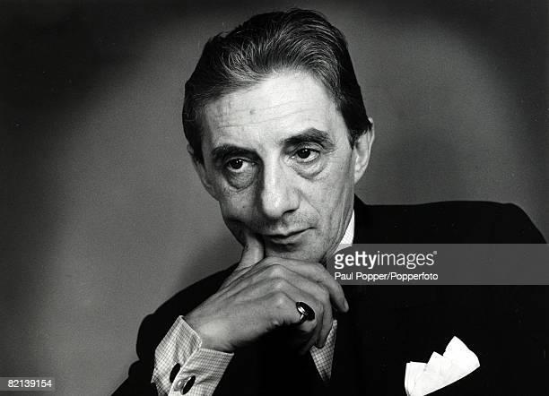 Music Personalities, pic: circa 1960's, Sir John Barbirolli, celebrated English conductor, Barbirolli's illustrious career saw him lead the London...