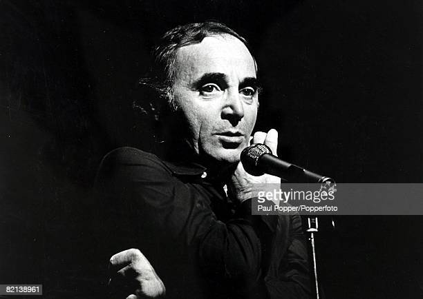 circa 1970's French singer and sometimes actor Charles Aznavour born 1924 who was popular for his romance ballads especially in the 1950's and 1960's...