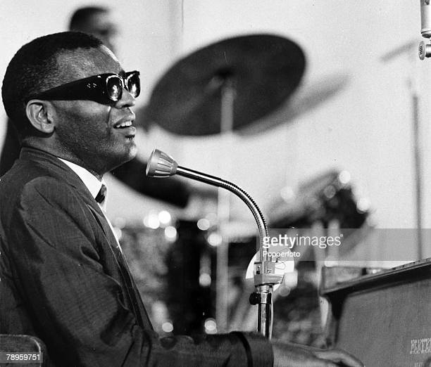 circa 1981 American black singer and pianist Ray Charles 19302004 famous for his gospel soul and blues singing