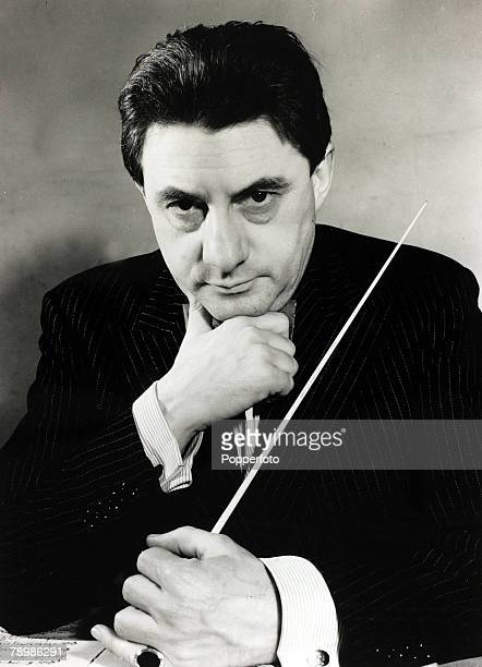 Music Personalities, pic: July 1948, John Barbirolli, celebrated English conductor the permanent leader of the Halle Orchestra, Barbirolli's...