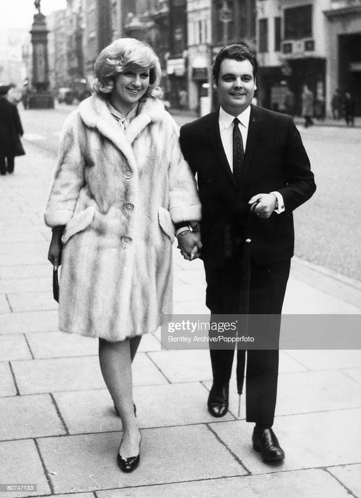 May 1967, Blond British singer Jackie Trent pictured with composer