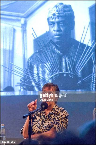 Music photographer and journalist Val Wilmer in conversation at Cafe Oto Dalston London on 16 July 2017