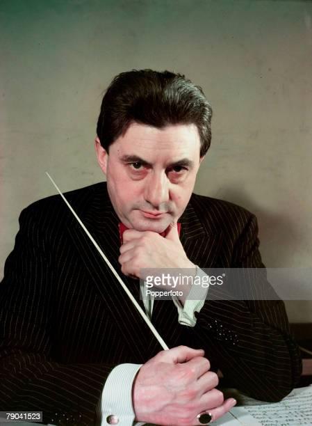 British conductor John Barbirolli, portrait