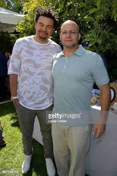 Music producer Alex da Kid and ICM Partners' Chris Silbermann at the ICM Partners PreEmmy Brunch on September 17 2016 in Santa Monica California