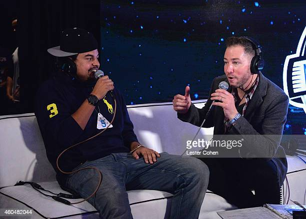 Music Producer Alex da Kid and KROQ DJ Ted Stryker attend day two of the 25th annual KROQ Almost Acoustic Christmas at The Forum on December 13 2014...