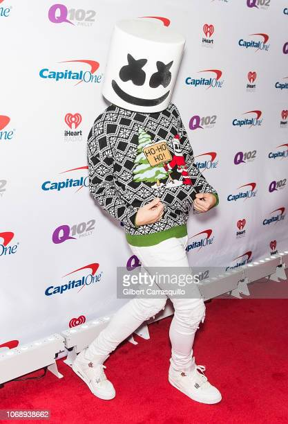 Music producer and DJ Marshmello attends Q102's Jingle Ball 2018 at Wells Fargo Center on December 5 2018 in Philadelphia Pennsylvania