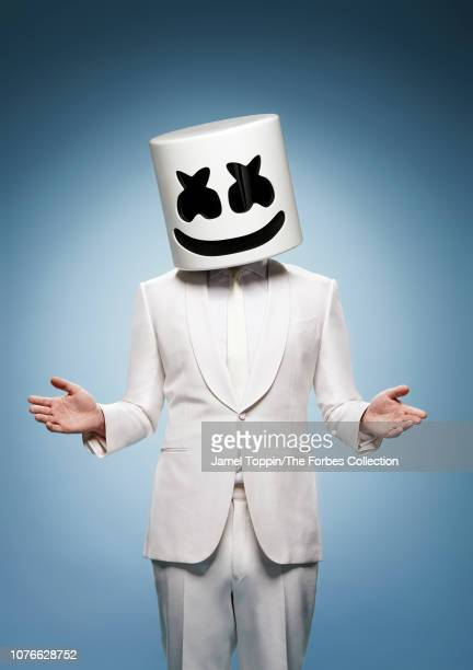 Music producer and DJ Marshmello is photographed for Forbes Magazine on September 30 2018 in New York City COVER IMAGE CREDIT MUST READ Jamel...