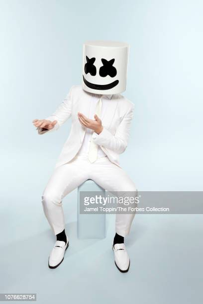 Music producer and DJ Marshmello is photographed for Forbes Magazine on September 30 2018 in New York City PUBLISHED IMAGE CREDIT MUST READ Jamel...