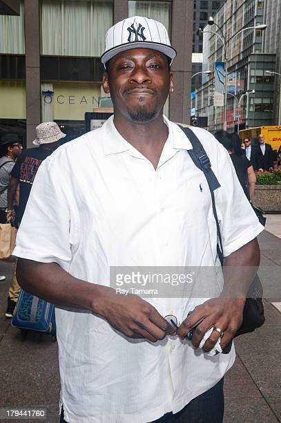 Music producer and rapper Pete Rock leaves the Sirius XM Studios on September 3 2013 in New York City