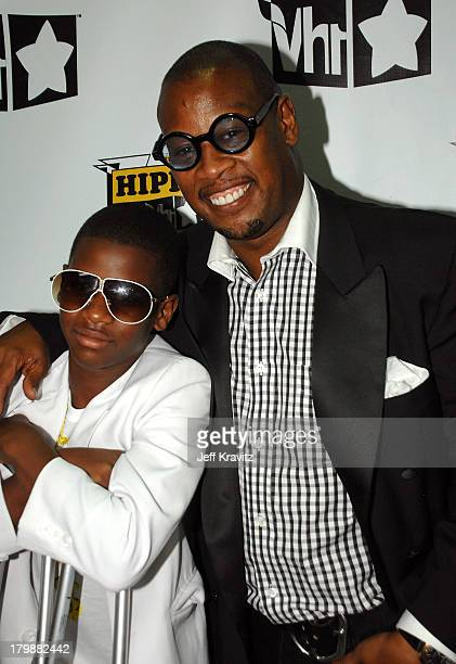 Music producer Andre Hurrell and his son arrives at the 2007 Vh1 Hip Hop Honors at Hammersteing Ballroom on October 4 2007 in New York City